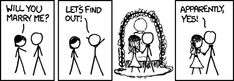 Empirical. the #irony of this comic was it came out on my best friends wedding day. @Lindsay Norquist will testify to that fact. #xkcd