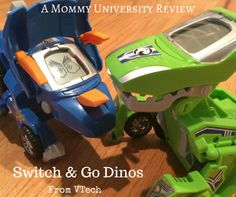 A ROARING GOOD TIME WITH VTECH SWITCH AND GO DINOS by Mommy University at www.MommyUniversityNJ.com
