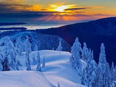 Sunset From Mt. Seymour Provincial Park, British Columbia Don't forget:  Beautiful Sunsets need cloudy skies… -- Paulo Coelho   Enjoy!