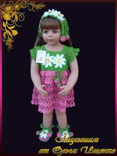 ВЯЗАНЫЙ ЭКСКЛЮЗИВ ОТ ОЛЬГИ ИЩЕНКО! — МОИ РАБОТЫ крючком для ДЕТОК! | OK.RU Girls Dresses, Flower Girl Dresses, Holiday Crafts, Crochet Baby, Harajuku, Princess, Knitting, Children, Wedding Dresses