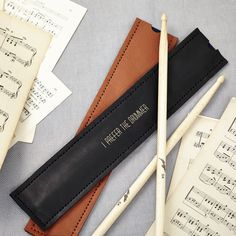 Personalised Black Drum Stick Holder #FathersDay