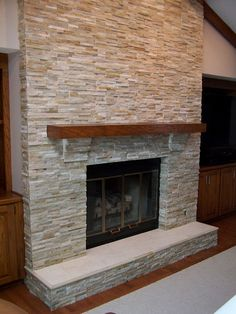 DIY Fireplace Mantel and Hearth Makeover | Diy fireplace mantel ...