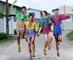 African pattern shirts & skirts