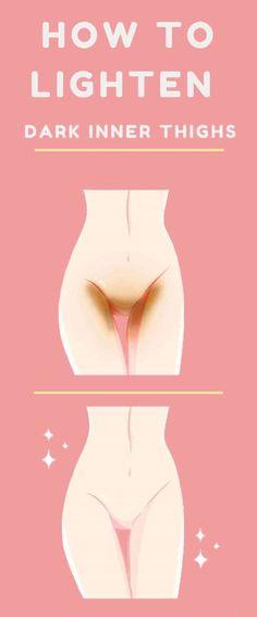 How to lighten Dark Inner Thigh, But and Bikini Area...