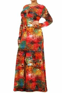 Gorgeous Full Length Plus Size Maxi Dress w/ Intricate Design & Beautiful Color!