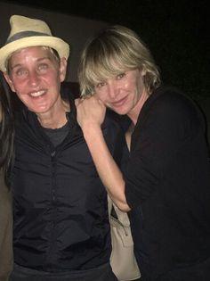Ellen Degeneres And Portia, Ellen And Portia, Portia De Rossi, The Ellen Show, Human Kindness, Cool Inventions, Charles Bukowski, Idol, Couple Photos