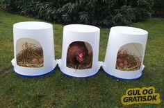 Redekasser til høns, billede 1 Chicken nest boxes, picture 1 Mum's amazing DIY Kmart hBuild nest boxes yourself –Bumblebees in the garden
