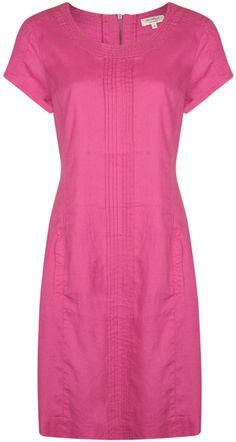 Jackpot Clothing Oonai Linen Dress (Raspberry) at Gemini Woman