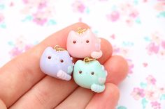 Adorable Pastel Pusheen Charms Handmade Polymer Clay