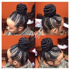 Cornrows Braided Hairstyles Beautiful and Trendy African Braids To Try out Black Girl Braids, Braids For Black Hair, Girls Braids, Braided Bun Black Hair, Black Braided Hairstyles, Braided Ponytail, African Braids Hairstyles, Loose Hairstyles, Trendy Hairstyles
