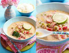 thai-suppe mit erdnuss & limette