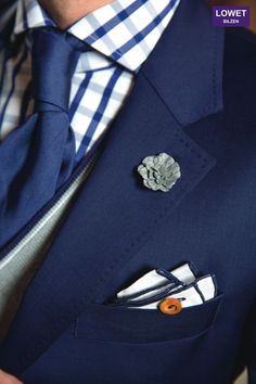 Windowpane navy shirt with navy solid from Holland Sherry