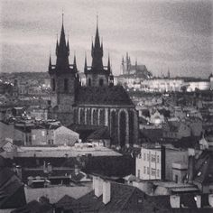 The view from the Powder Tower in Prague
