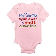 My Auntie made a wish Infant Bodysuit