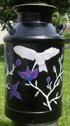 #Upcycled old milk jug #DIY painting project... for the mom who has everything. Add a cushion to the top for new stools.