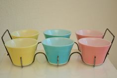 Custard Cups from JAJ, Pyrex UK Mid-Century kitcheneria. Can be oven-baked.