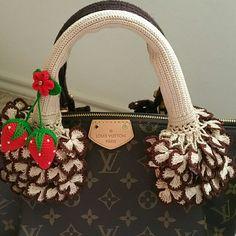 a7ea528ffc27 Louis Vuitton Speedy crochet Handle covers Handmade handbag handle covers  for All Speedy Alma