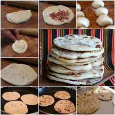 How to make Pupusas. Filling recipe, dough recipe, and curtido recipe Gourmet Recipes, Mexican Food Recipes, Cooking Recipes, Mexican Cooking, Cooking Stuff, Cooking Ideas, Spanish Dishes, Mexican Dishes, Papusa Recipe