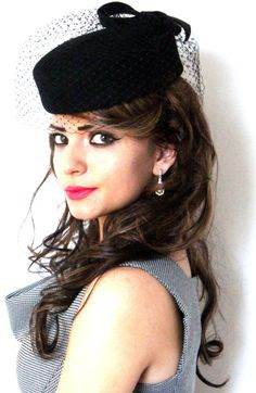 The 'Marilyn'' Vintage style felt pillbox hat by IndieCindyHats