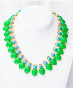 'Cleopatra's Statement Necklace (Forest)  get it : WWW.PURPLIEME.COM