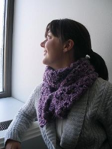 Just as the name states, make an asymmetry scarf using just one skein of yarn! This free crochet pattern is easy to make as it uses double crochet and the shell stitch in easy repetitive techniques. A decorative button closes the scarf for the finishing touch.