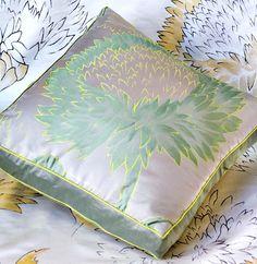 Floral silk fabric from Jim Thompson #textiles #silk #interiordesign