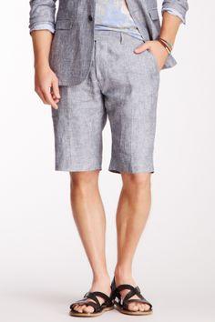Arild Sunde Grey Pinstriped Linen Suit Short on HauteLook