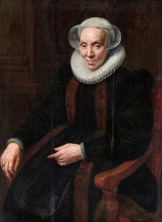 """""""Retrato de Maria van Utrecht"""". (1615). (by Paulus Moreelse). Rijksmuseum, Amsterdam."""