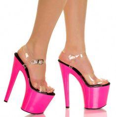 e7da00ec81f3 Women S Super High Heel Stilettos Platform Open Toe Nightclub Party Buckle  Shoes  Highheels Strappy Shoes