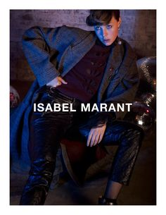 Photographed by Inez & Vinoodh, Edie Campbell stars in Isabel Marant's fall 2016 campaign