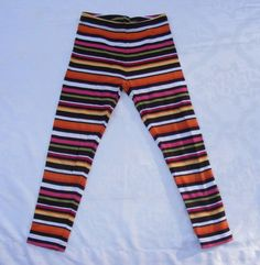GYMBOREE Printed Leggings, Stripes Fall for Autumn Leggings, 100% Cotton, Size 7 #Gymboree