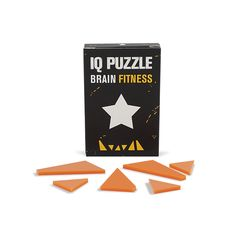 IQ PUZZLE • Star, tangram, brain fitness, orange pieces, black star Iq Puzzle, Black Star, Invite Your Friends, S Star, Brain, Invitations, Orange, Fitness, How To Make