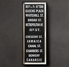 """from GARDNERS 2 BERGERS: ✥ Easy Restoration Hardware Subway Sign """"95th"""" Knock Off ✥"""