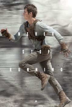 This is Thomas from the Maze Runner movie running. This symbolizes that he is a runner. A runner is part of a group of people that go out into the maze during the day, and try to look for a way out. When Thomas got there, he had a guy feeling that he needed to be a runner. Also, when he got to the Glade, he had a weird feeling that he'd been there before, contributing to the reason he wanted to be a runner.