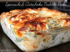 Spinach & Artichoke Bubble Bake! - I only used 1/4 tsp cayanne, which gave it a nice hint of heat. I'm glad I didn't use the full tsp.