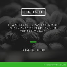Crazy! Did you know this #hempfact? #hemp is an amazing plant...