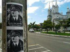 Brasil. En Itajaí se colgaron carteles en honor al cumpleaños de Hitler