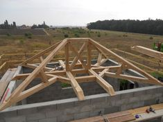 Charpente Roof Design, House Design, Building Design, Building A House, Oak Framed Buildings, Timber Structure, Roof Trusses, Dome House, Timber Frame Homes