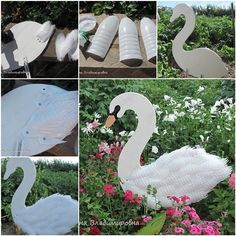 "DIY Swan Garden Decorations Using Plastic Bottles "" The Swan are useful ideas that will not cost you much, nor take your precious time but wonderful craft ideas that will help you make a beautiful..."