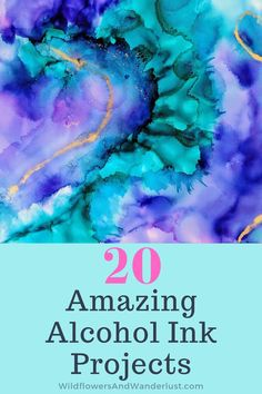 20 Amazing Alcohol Ink Projects - Wildflowers and Wanderlust - Are you ready to try alcohol ink painting? We've got inspiration and tutorials for you to check - Alcohol Ink Jewelry, Alcohol Ink Glass, Alcohol Ink Painting, Alcohol Ink Tiles, Sharpie Alcohol, Alcohol Ink Crafts, Alcohol Markers, Sharpies, Sharpie Crafts