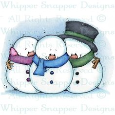 Snowmen with Scarves