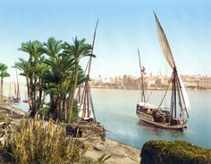 Kairo : bords du Nil et Dahabieh. Cities In Africa, Nile River, City Background, World Geography, Thing 1, Cairo Egypt, Day Tours, Old Pictures, Travel Pictures