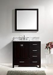 """36"""" Virtu Caroline GS-50036-ES bathroom vanity vanities #HomeRemodel #BathroomRemodel #BlondyBathHome #Freestanding"""