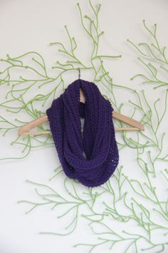 Crochet circle scarf