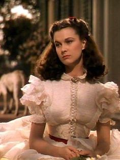 Vivien Leigh as Scarlett O'Hara in the opening scene of 'Gone With The Wind'. I love the many expressions of her face. She shows every emotion one can have within this movie: angst, pain, heartache, envy, joy, sorrow, grief, pride, guile, determination, love, hatred. Every single emotion.