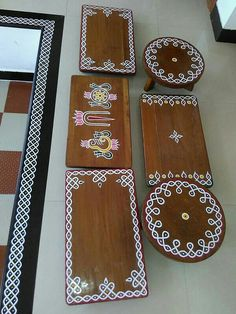 Home Discover - room ideas decoration Rangoli Designs Flower, Rangoli Border Designs, Small Rangoli Design, Rangoli Ideas, Rangoli Designs Images, Flower Rangoli, Diwali Decorations, Housewarming Decorations, Festival Decorations