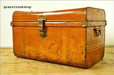 SOLD SOLD vintage antique trunk chest tool box storage travel trunk metal
