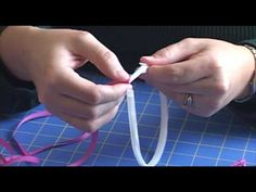 "Learn how to make a ribbon wrapped headband that can be worn plain or with a bow or flower attached.  This video shows a 1/4"" (7mm) white plastic headband wrapped with 1/4"" grosgrain ribbon.  You can also use a metal headband or wider ribbon. The plastic headbands used in this project are available at http://www.hair-hardware.com/plastic-headban..."