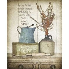 Uberlegen We Give Thanks Canvas Art   Jo Moulton (24 X 30)