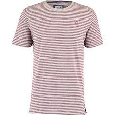 Grey & Red Stripe T-Shirt